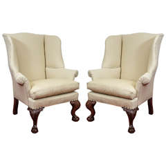Pair of George II Wingback Chairs
