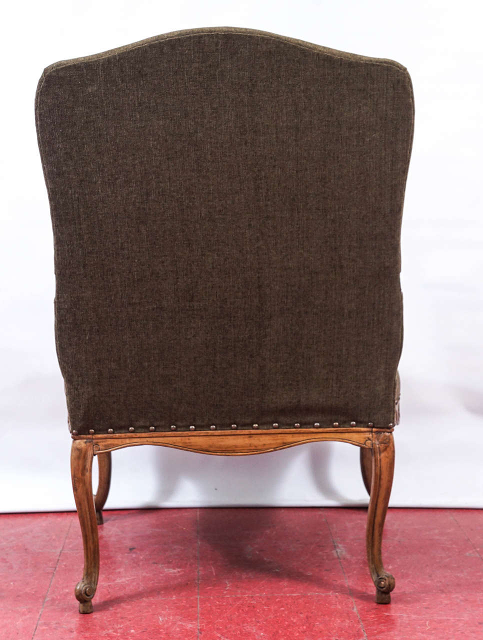 Carved Louis XV Style Armchair For Sale