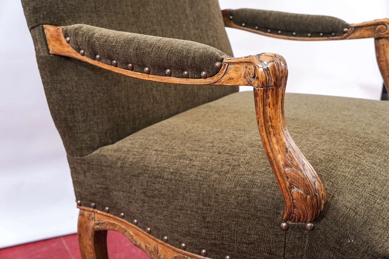 19th Century Louis XV Style Armchair For Sale