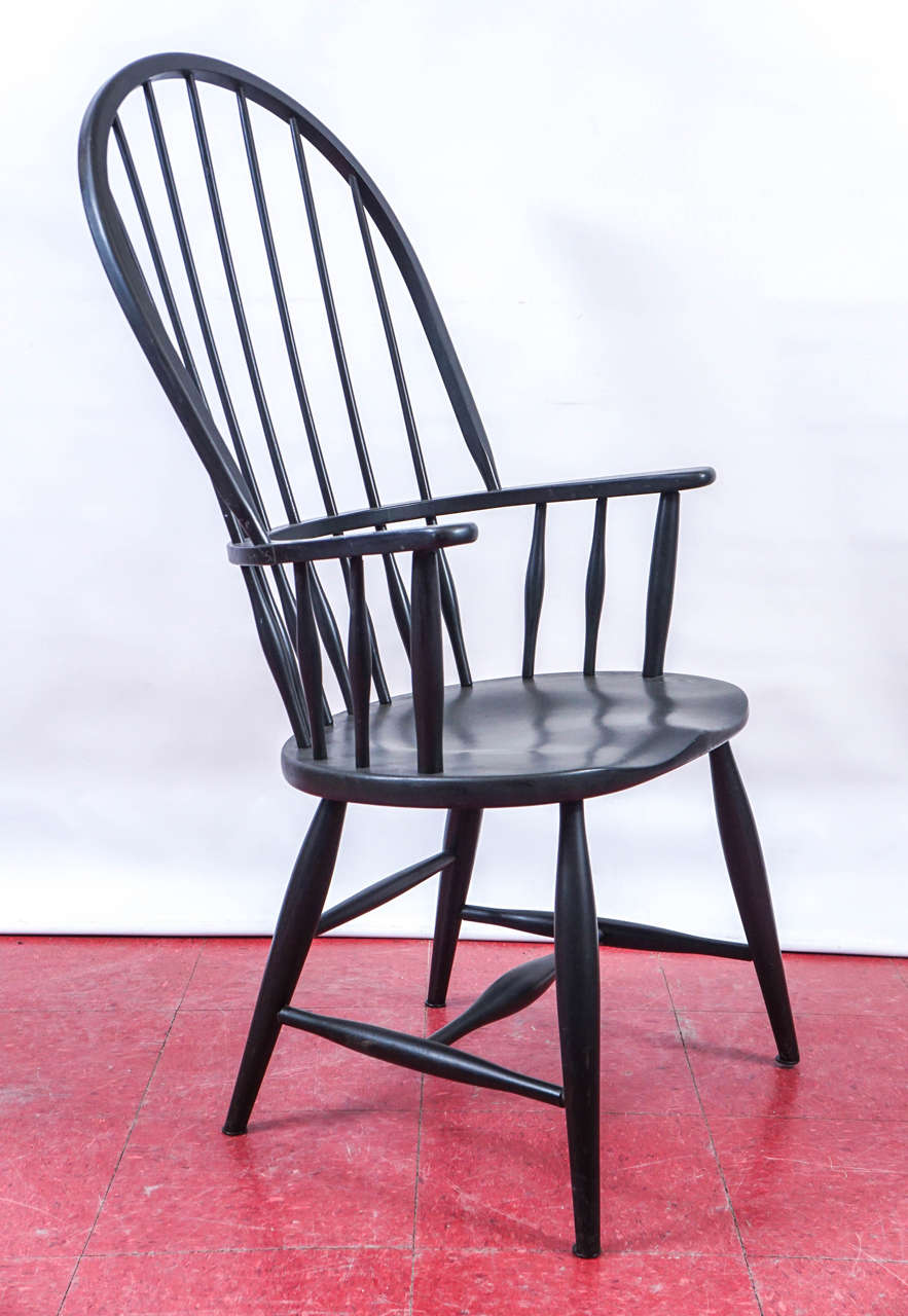 American Colonial Four American Windsor Armchairs