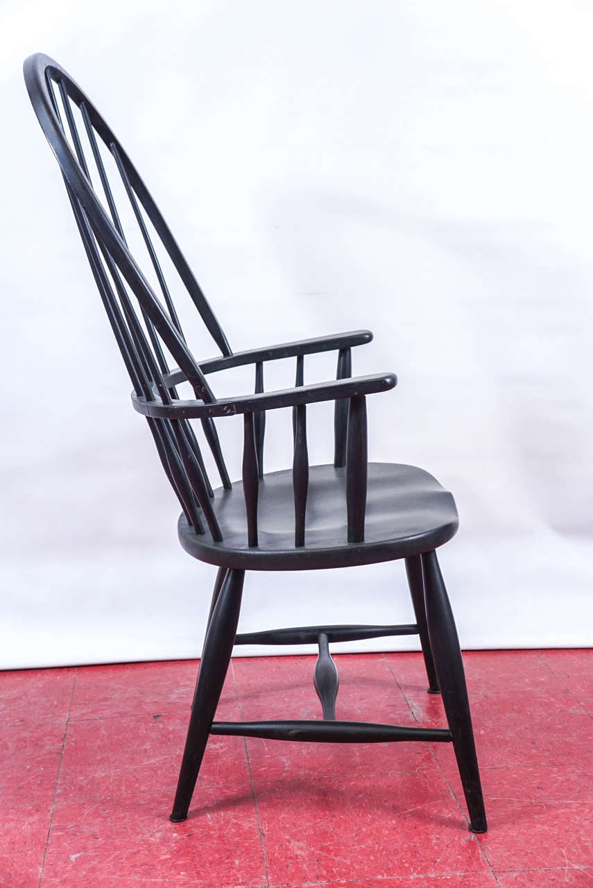Patinated Four American Windsor Armchairs