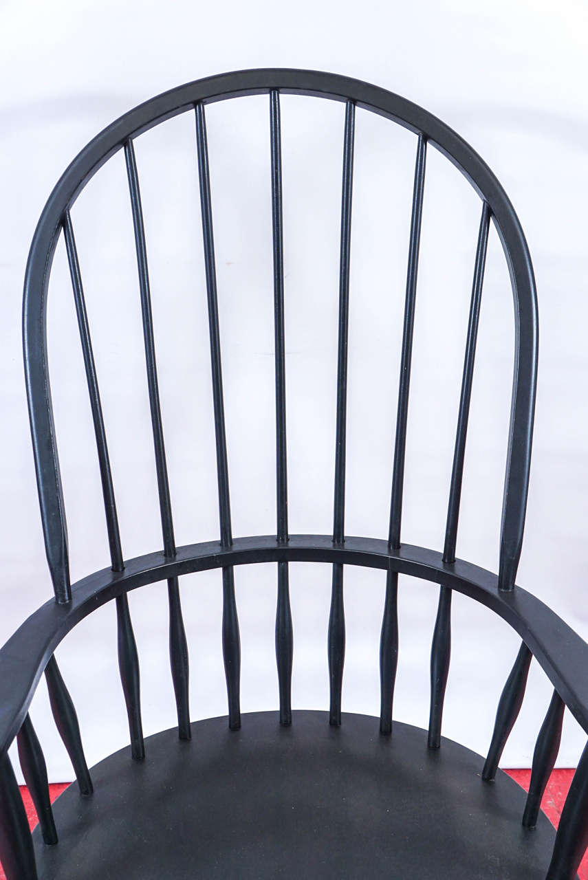 20th Century Four American Windsor Armchairs
