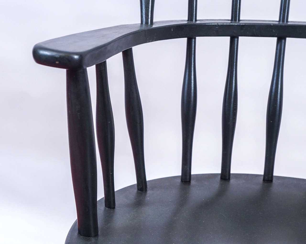 Wood Four American Windsor Armchairs