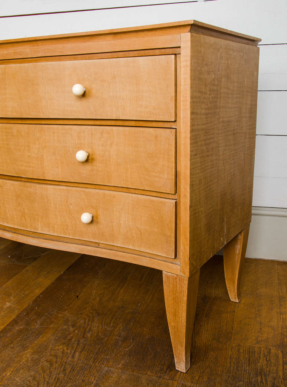 french art deco sycamore commode at 1stdibs. Black Bedroom Furniture Sets. Home Design Ideas