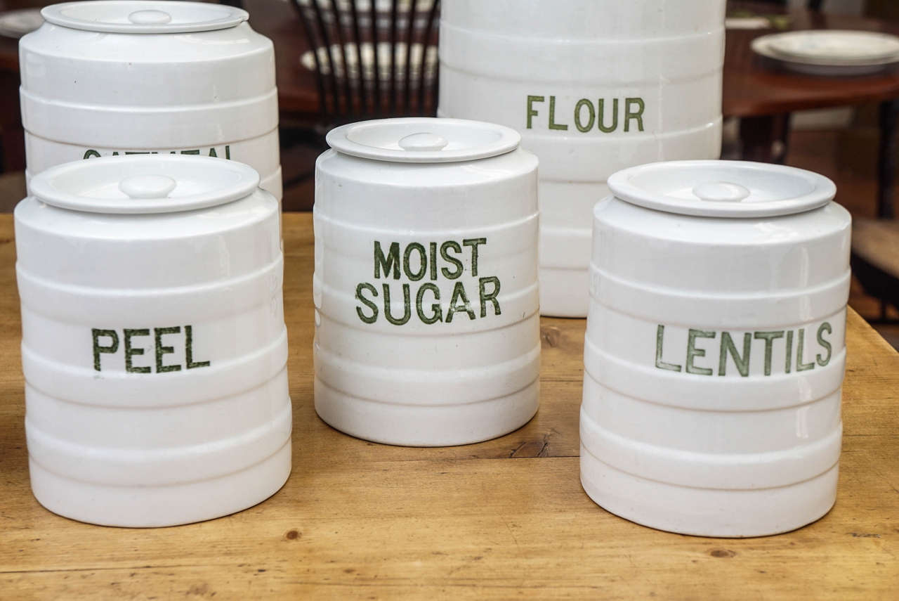 Early 20th Century Ten-Piece English Canister Set