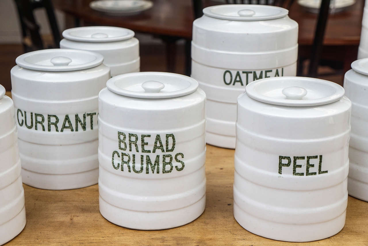 Ten-Piece English Canister Set 1
