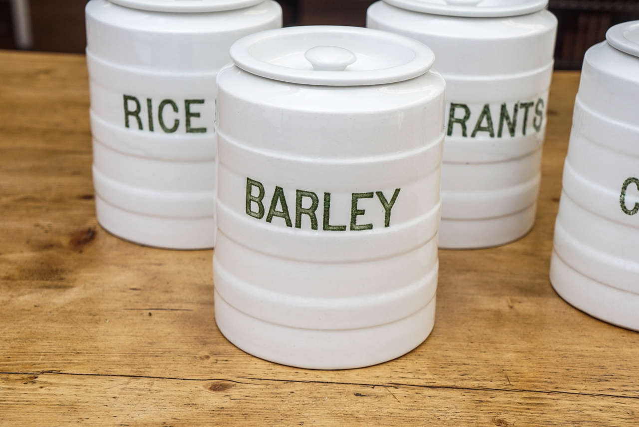 Ten Piece English Canister Set At 1stdibs