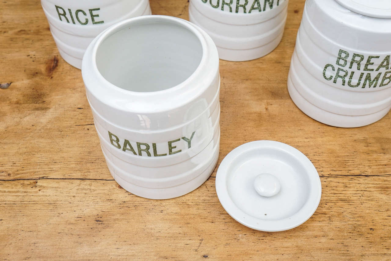 Ten-Piece English Canister Set 3
