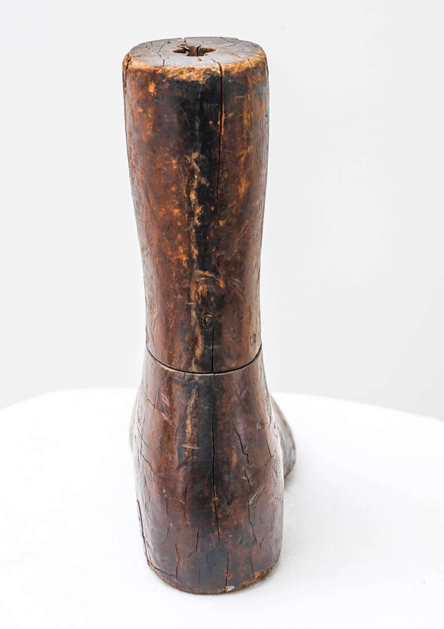 American Old Wooden Foot or Boot Form For Sale