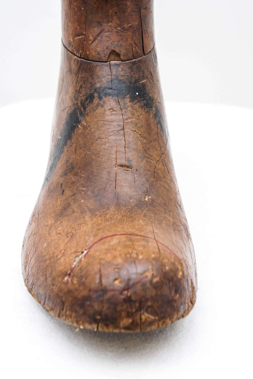 Old Wooden Foot or Boot Form For Sale 1