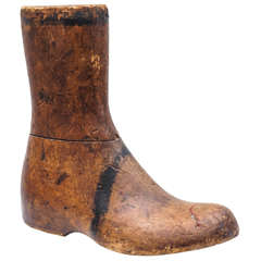 Old Wooden Foot or Boot Form