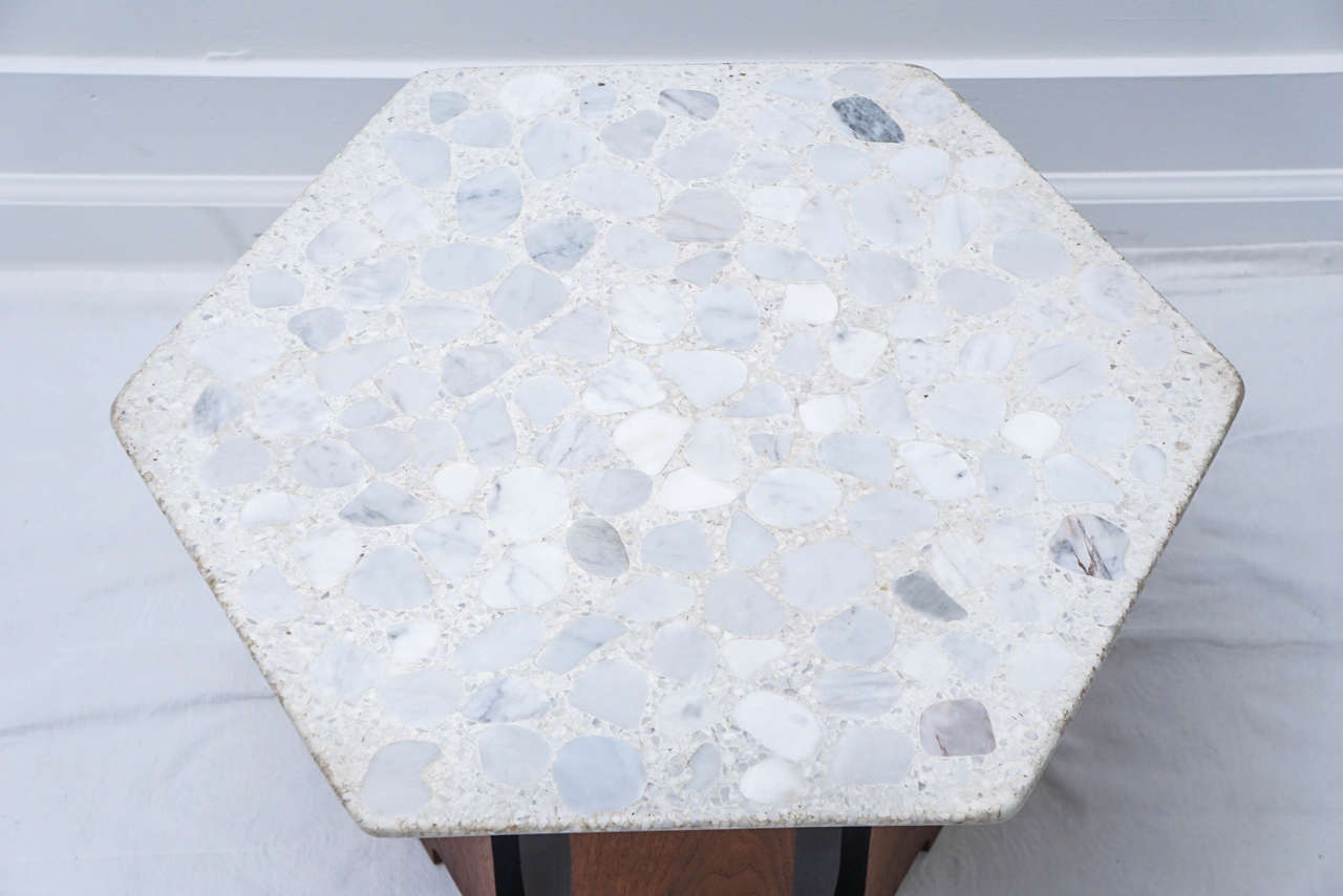 Pair of Harvey Probber Hexagon Composite Tables For Sale at 1stdibs
