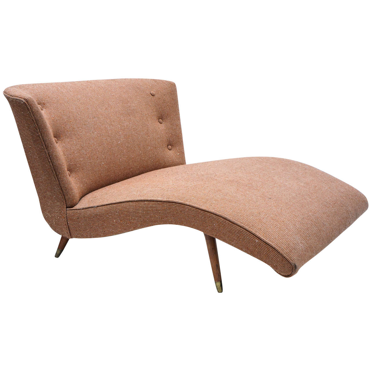 1950s curvy chaise lounge after mccobb or probber at 1stdibs for 1950s chaise lounge