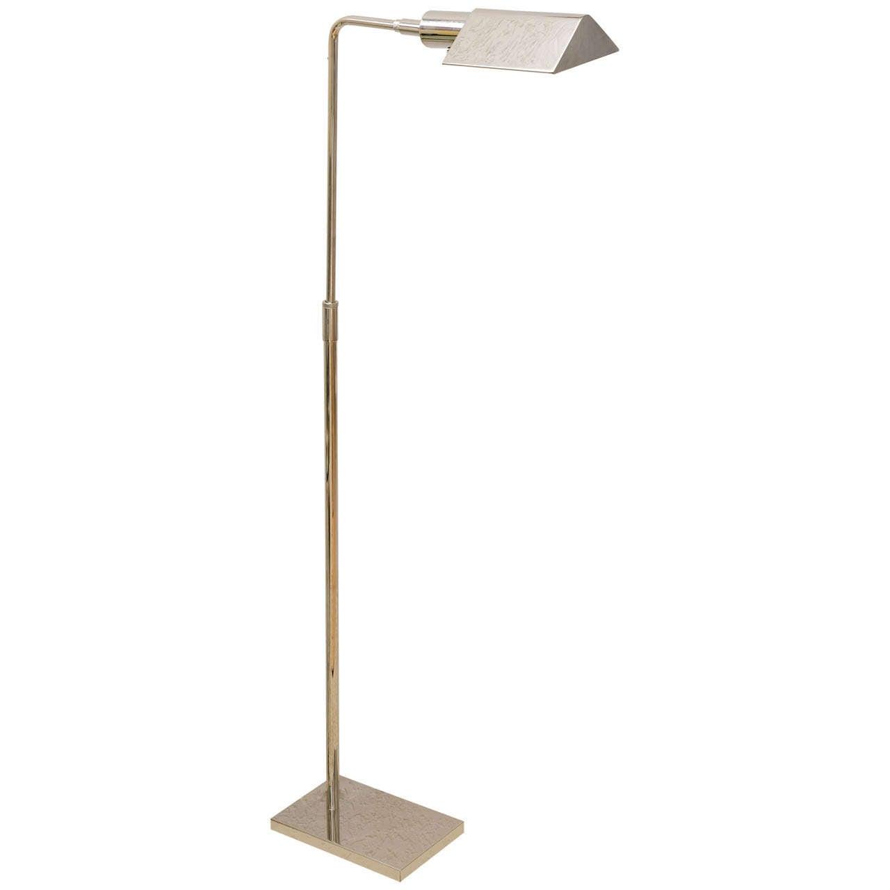 Koch and lowy chrome floor lamp at 1stdibs for Darlington floor lamp chrome
