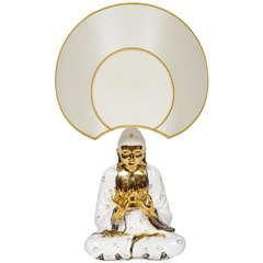 "Skurrile Buddha Lampe von Idealux ""Signed"""