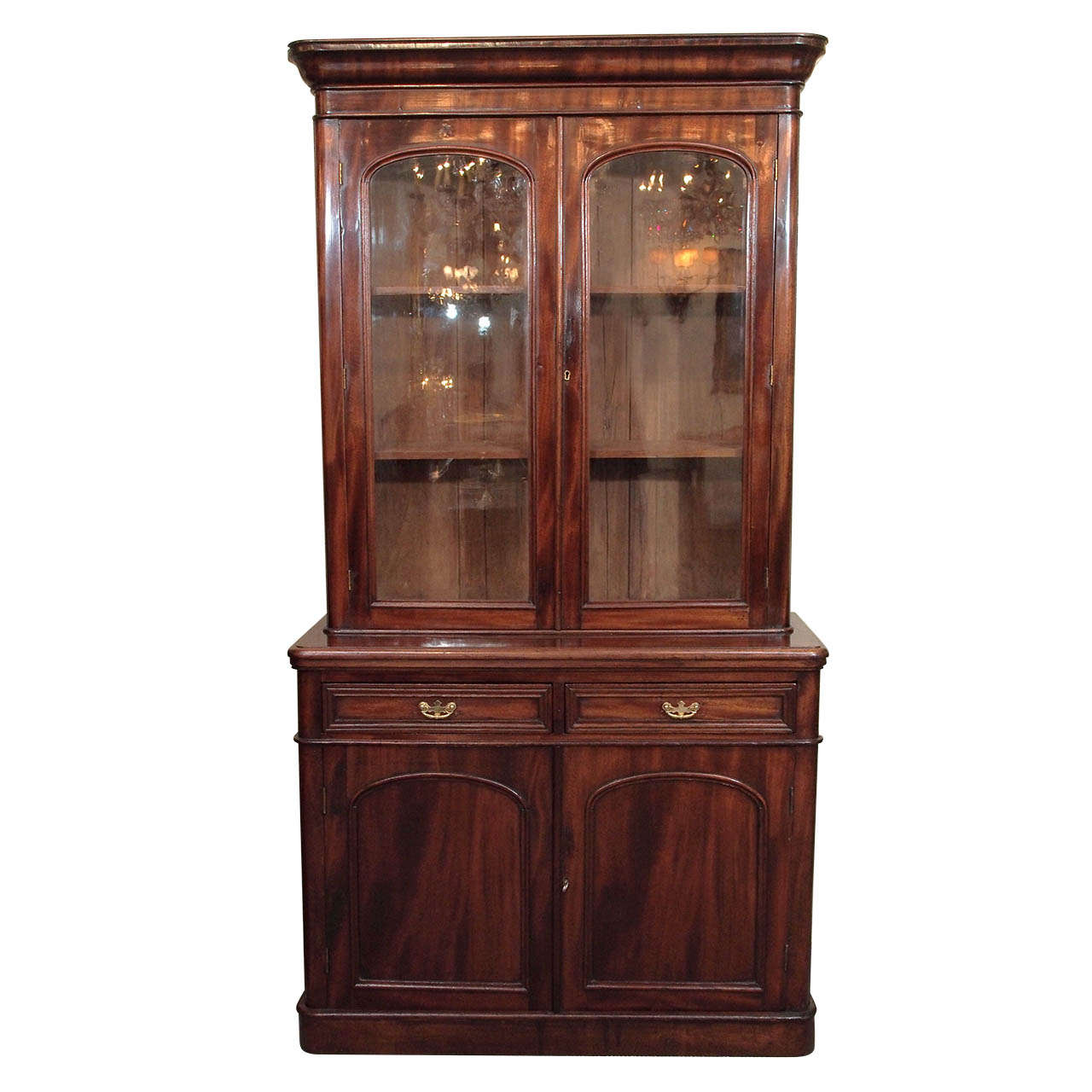 Antique English Mahogany Bookcase. For Sale At 1stdibs