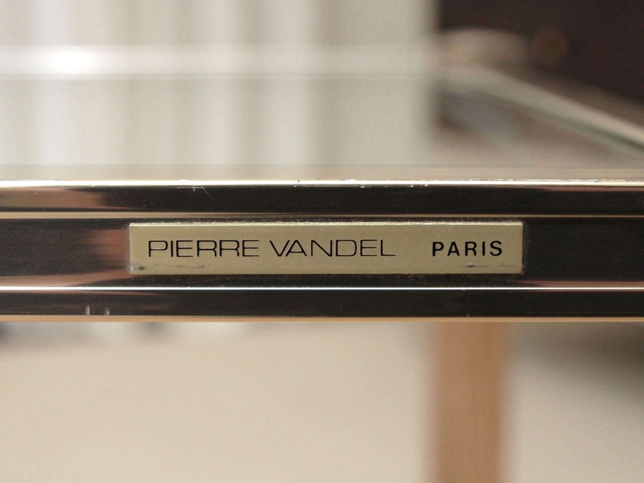 pair of oak ceruse side tables signed pierre vandel paris for sale at 1stdibs. Black Bedroom Furniture Sets. Home Design Ideas