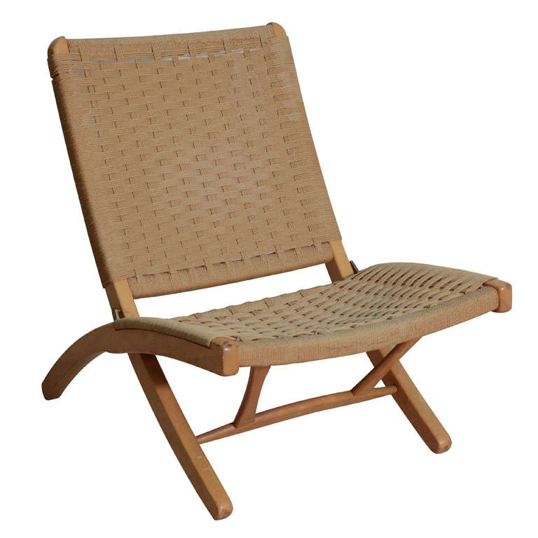 Hans Wegner Style Woven Rope Folding Chair at 1stdibs : x from www.1stdibs.com size 768 x 768 jpeg 43kB