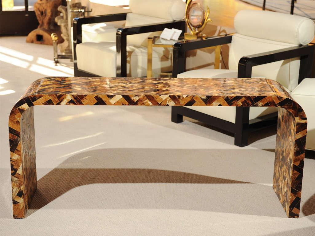 Decorative Bone-Overlaid Console Table 2