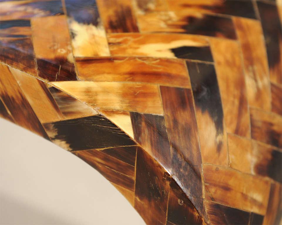 Decorative Bone-Overlaid Console Table 5