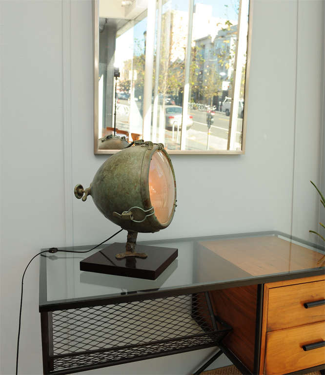 Industrial Light On Stand At 1stdibs