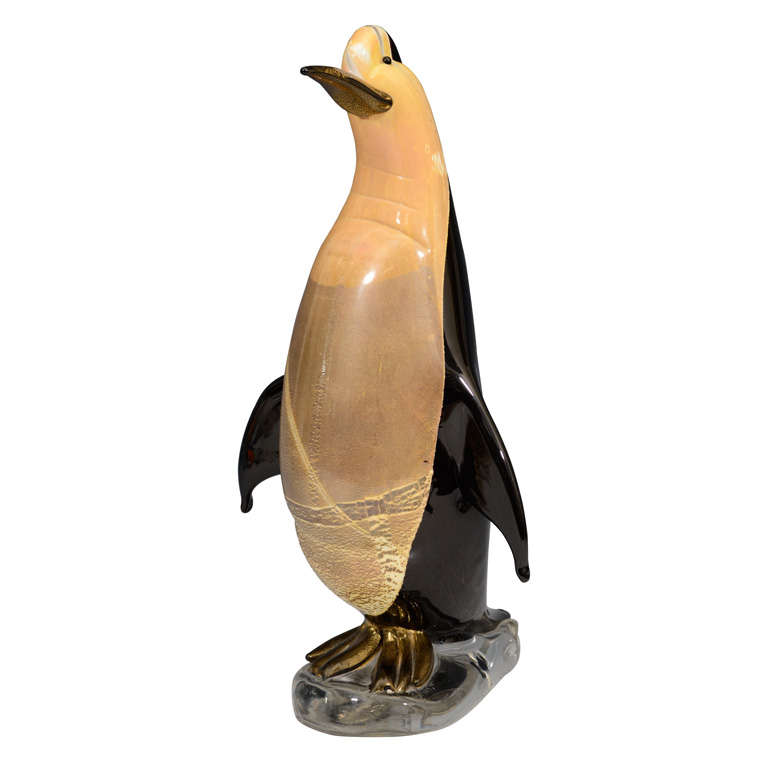 Vintage Glass Penguin by F. Valmarano Venezia Vetranti