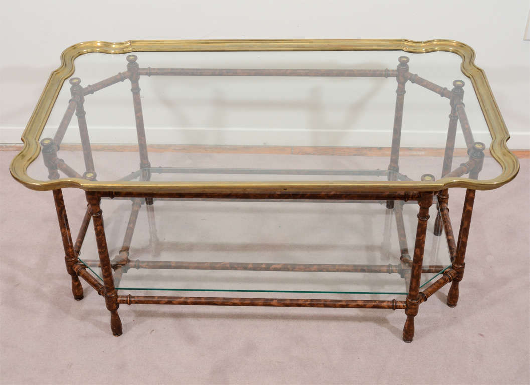 Mid Century Coffee Tray Table In The Style Of Baker At 1stdibs