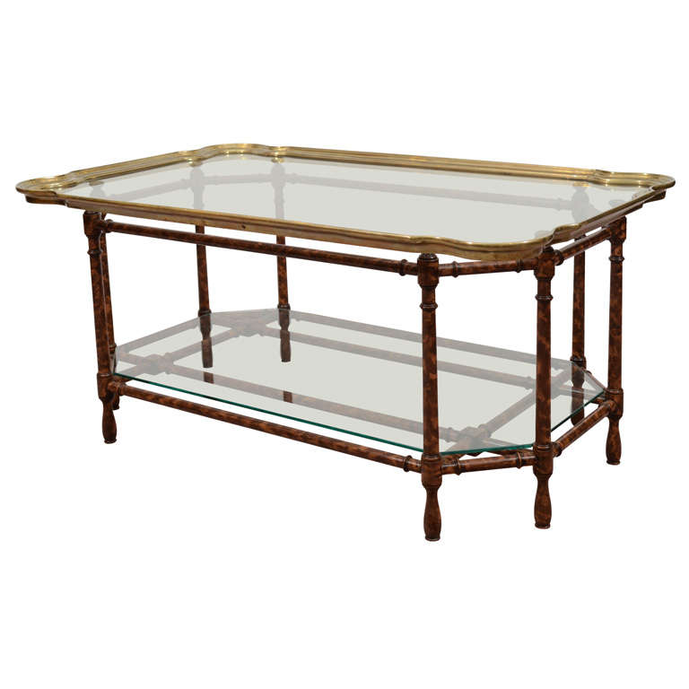 Mid century coffee tray table in the style of baker at 1stdibs Baker coffee table