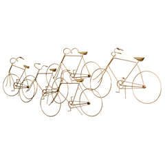 Mid Century Brass Bicycle Sculpture by Curtis Jere