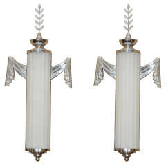 A Pair of Art Deco Sconces by Lurelle Guild for Chase Co.