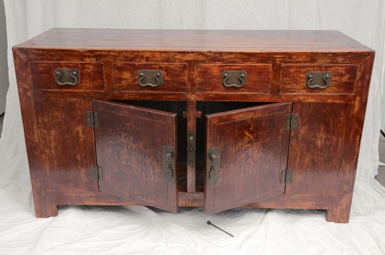 Early 19th Century Qing Dynasty Beijing Four-Drawer Southern Elm Buffet 2