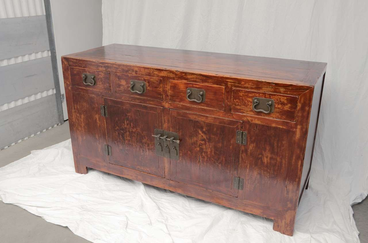 Early 19th Century Qing Dynasty Beijing Four-Drawer Southern Elm Buffet 3