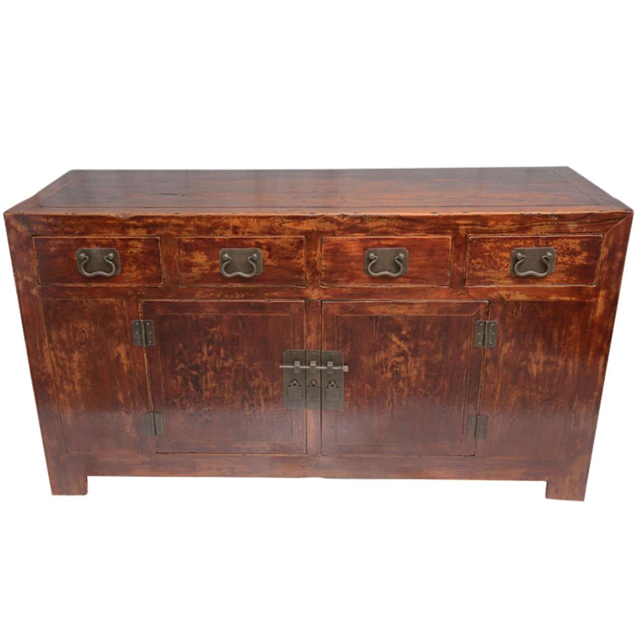 Early 19th Century Qing Dynasty Beijing Four-Drawer Southern Elm Buffet