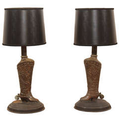 Stylized Western Boot Lamps