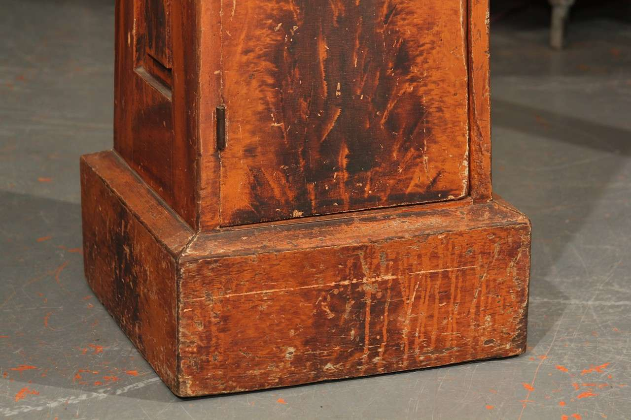 20th Century Grain Painted Side Table / Pedestal  For Sale