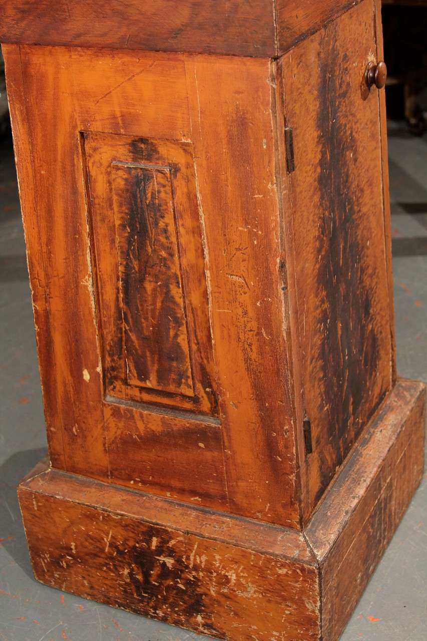 Grain Painted Side Table / Pedestal  For Sale 3