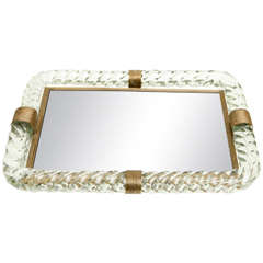 Venini Mirrored Tray