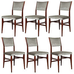Set of Six Dining Chairs by Gio Ponti for Cassina