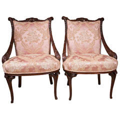 "Pair  ""Hollywood"" Regency  Arm  Chairs"