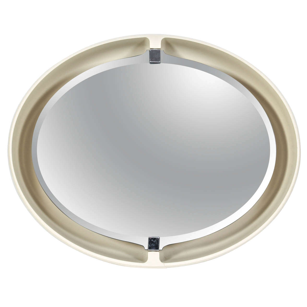 1970s Allibert French Pivoting & Lighted Oval Mirror