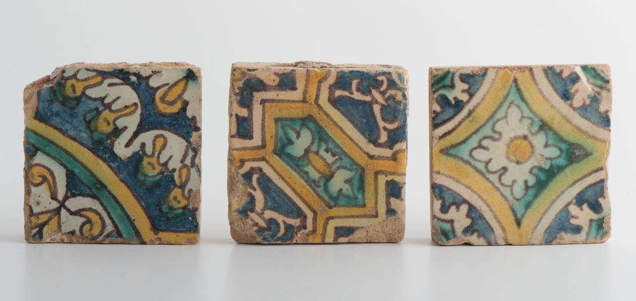 Floor tiles retaining good original colour
