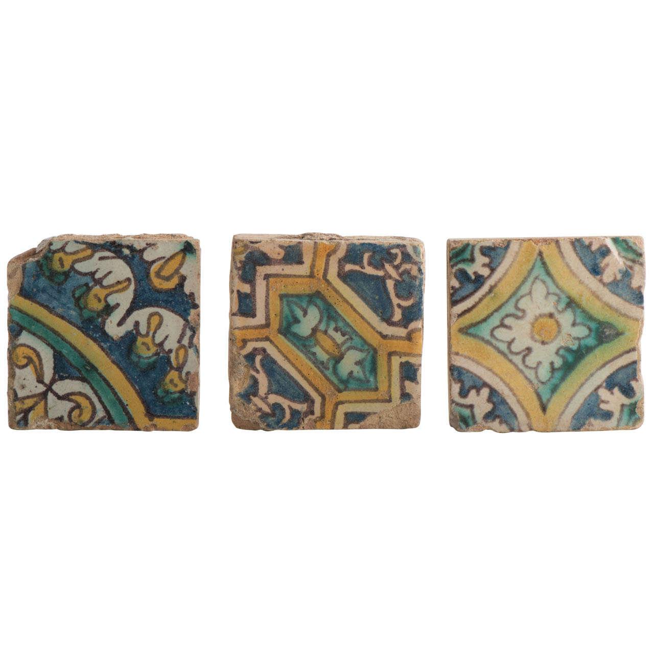 Spanish floor tiles, ca. 1580