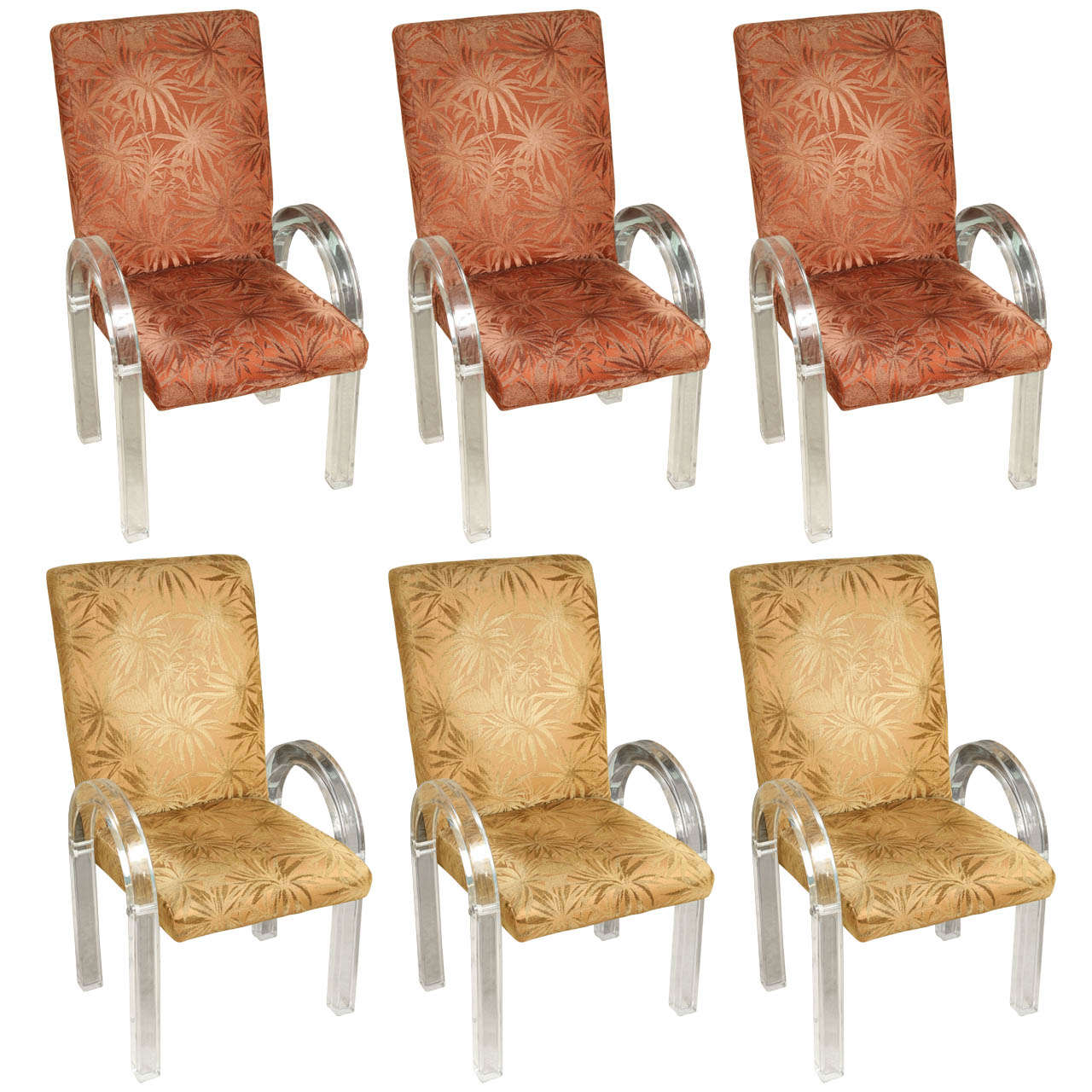 Lucite Dining Chairs By Charles Hollis Jones For Sale At