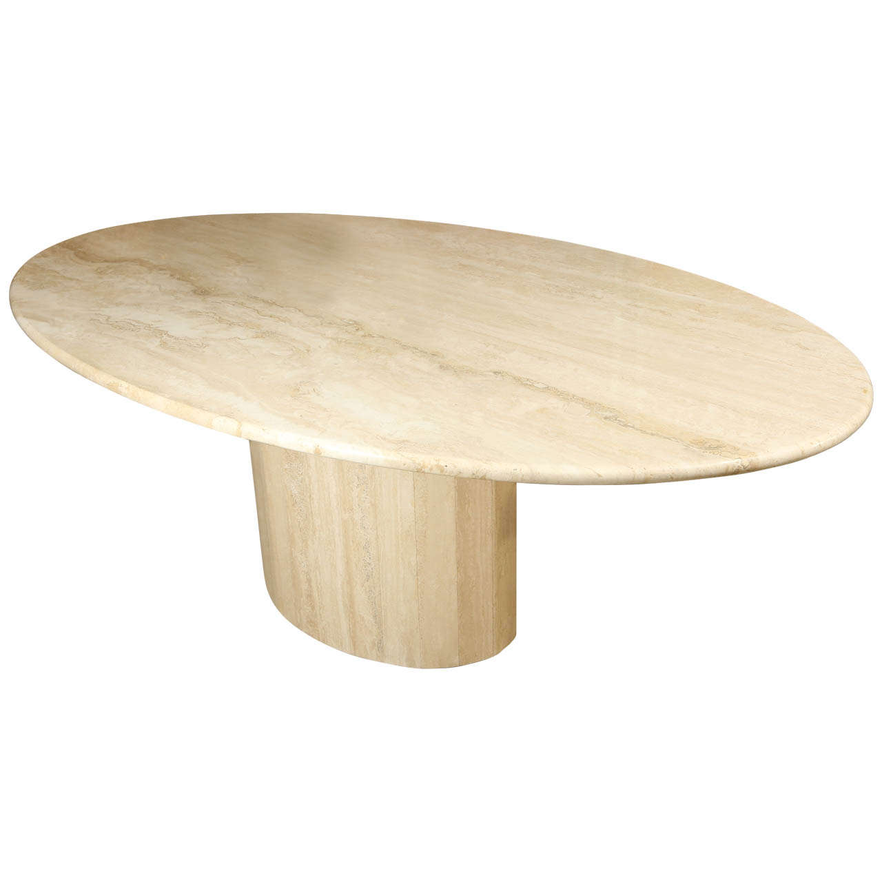 Classic Oval Polished Travertine Dining Table at 1stdibs : X from 1stdibs.com size 1280 x 1280 jpeg 53kB