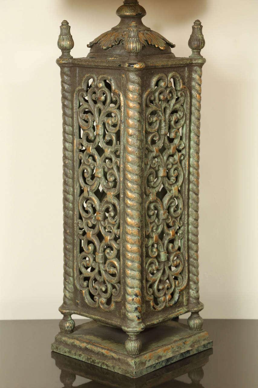 Monumental Pierced Ceramic Table Lamp By Nardini At 1stdibs