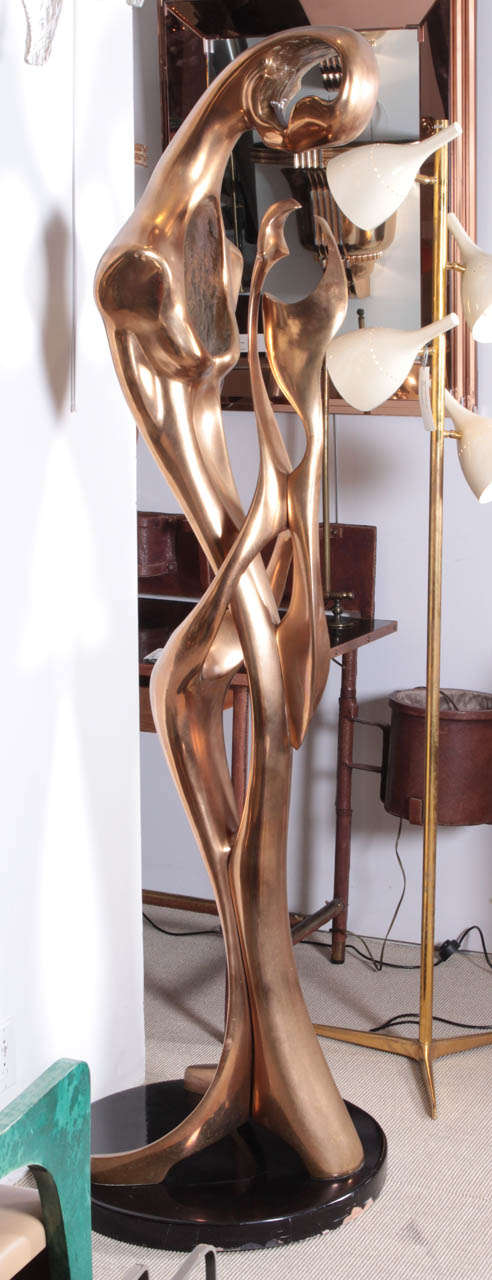 French Amazing Bronze Sculpture, 1970 by G. Carpentier For Sale