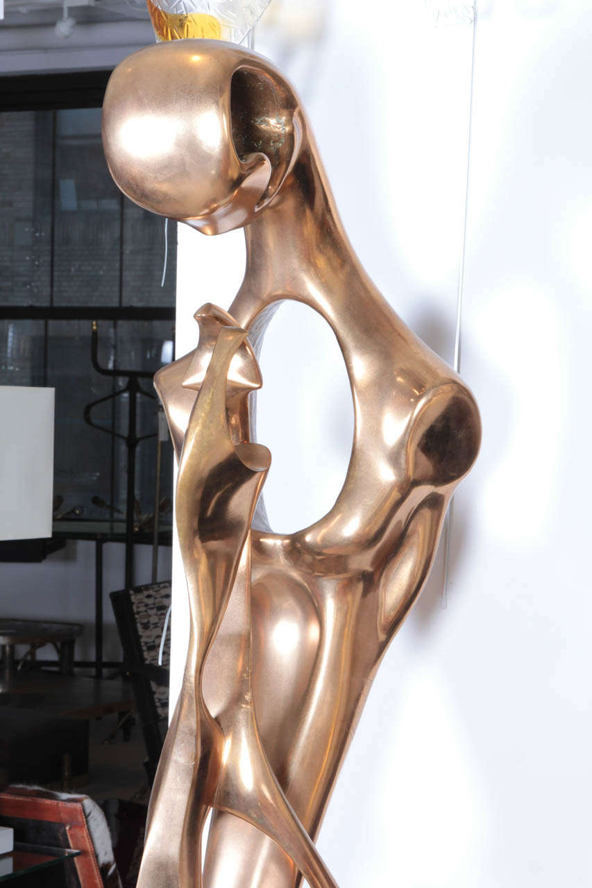 Late 20th Century Amazing Bronze Sculpture, 1970 by G. Carpentier For Sale