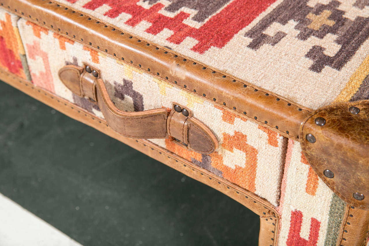 Kilim trunk coffee table