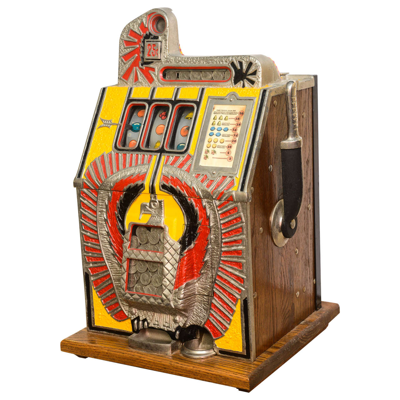 25 Cent Furniture 25 Cent Bronze Chief Slot Machine At 1stdibs 25 Cent War Eagle Mills Slot