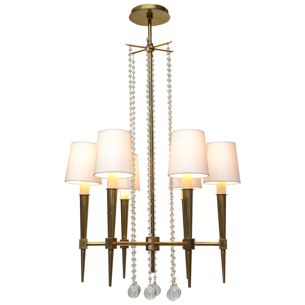 Tommi Parzinger Six-Arm Chandelier